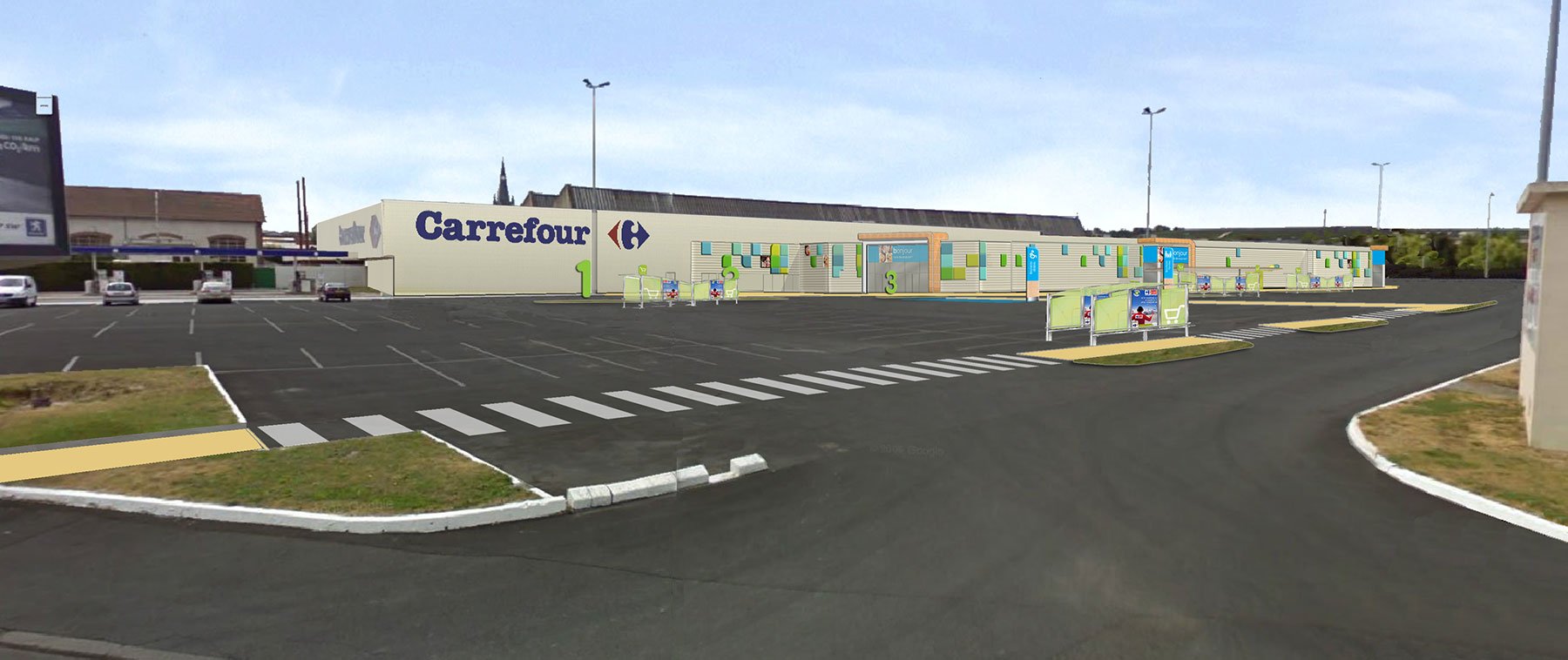 GNAT Ingenierie Remodeling Carrefour Epernay