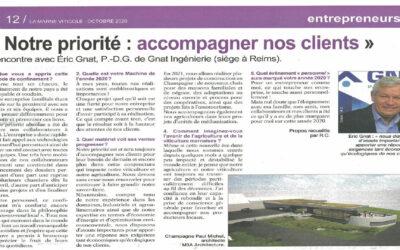 Vu dans la presse | «Notre priorité, accompagner les clients» – Marne Viticole